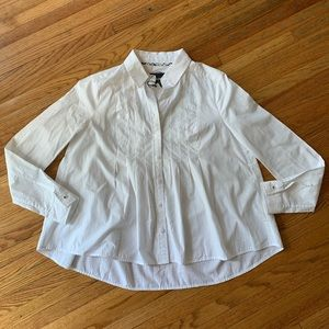 Maeve Anthropologie button down pleated shirt sz 2